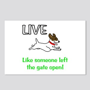Live the gates open Postcards (Package of 8)