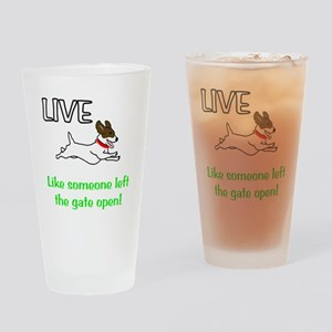 Live the gates open Drinking Glass