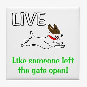 Live the gates open Tile Coaster