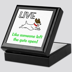 Live the gates open Keepsake Box