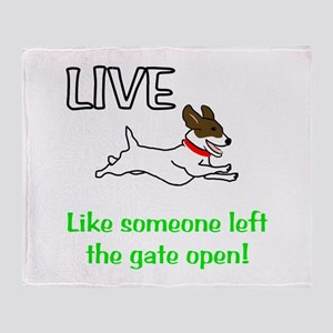Live the gates open Throw Blanket