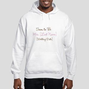 Pink & Brown Custom Soon to Be Mrs. Hooded Sweatsh