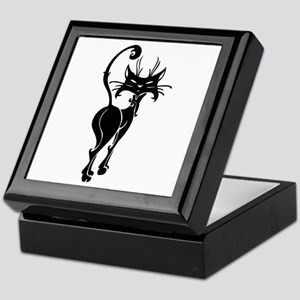 Black Siamese Cat Keepsake Box