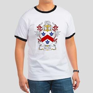 Van Vliet Coat of Arms Ringer T