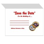 Save the Date Wedding Ring Set Pk of 10