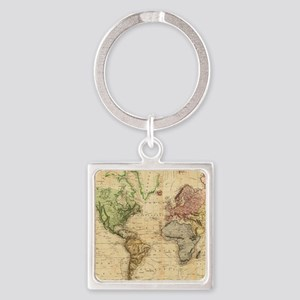 Vintage Map of The World (1831) Keychains