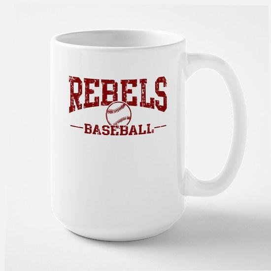 Rebels Baseball Large Mug