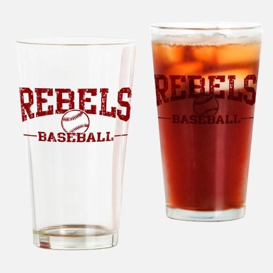 Rebels Baseball Drinking Glass