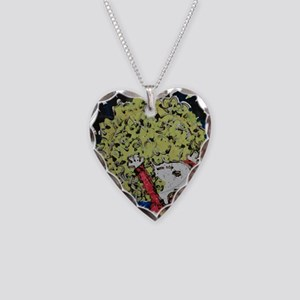 SHAGGY AFRO DOG HAIR Necklace Heart Charm