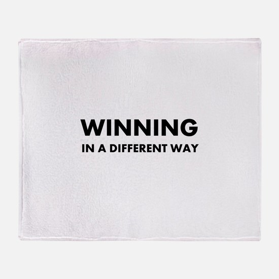 Winning In A Different Way Throw Blanket