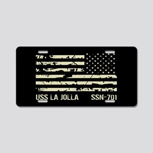 USS La Jolla Aluminum License Plate