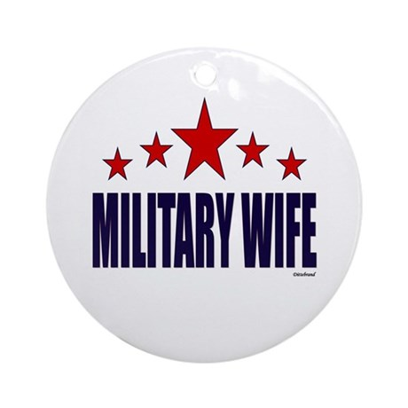 Military Wife Ornament (Round)