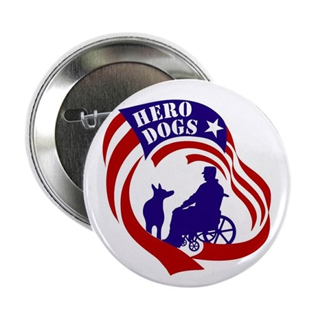 """Hero Dogs Gear and Garments 2.25"""" Button"""