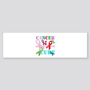 I walk for the Cure of Cancer Sticker (Bumper)
