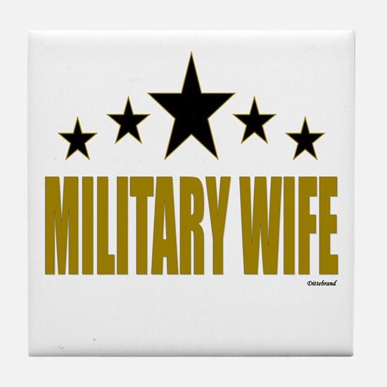 Military Wife Tile Coaster