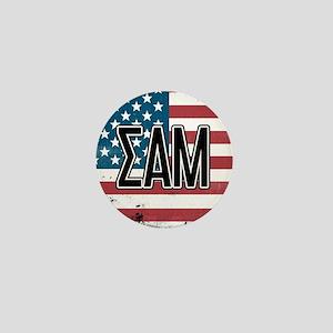Sigma Alpha Mu US Flag Mini Button