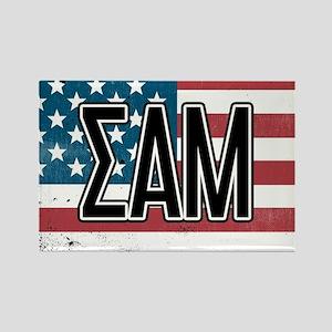 Sigma Alpha Mu US Flag Magnets