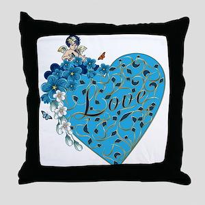 Angel 'LOVE' shirts & etc Throw Pillow