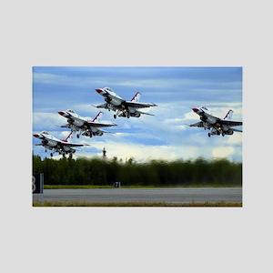 Thunderbirds Take Off Rectangle Magnet