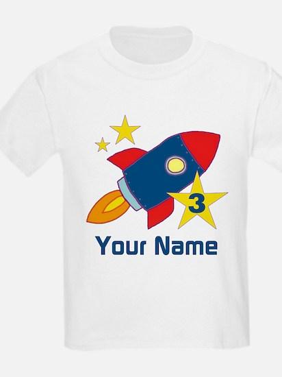 3rd Birthday Rocket T-Shirt
