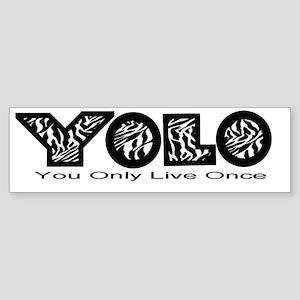YOLO2zebra Bumper Sticker