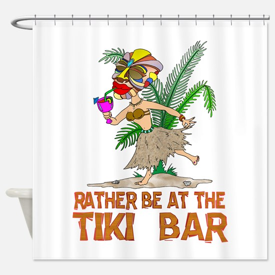 Rather be.... Tiki Goddess Shower Curtain