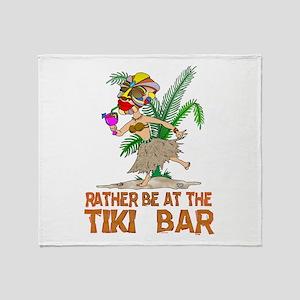 Rather be.... Tiki Goddess Throw Blanket