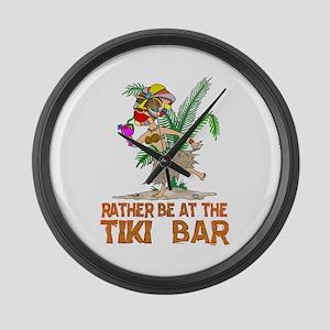 Rather be.... Tiki Goddess Large Wall Clock