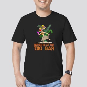 Rather be.... Tiki Goddess Men's Fitted T-Shirt (d
