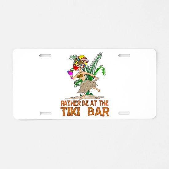Rather be.... Tiki Goddess Aluminum License Plate