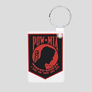 POW MIA I Ride Aluminum Photo Keychain