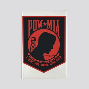 POW MIA I Ride Rectangle Magnet