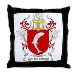 Van der Straten Coat of Arms Throw Pillow