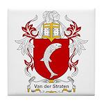 Van der Straten Coat of Arms Tile Coaster