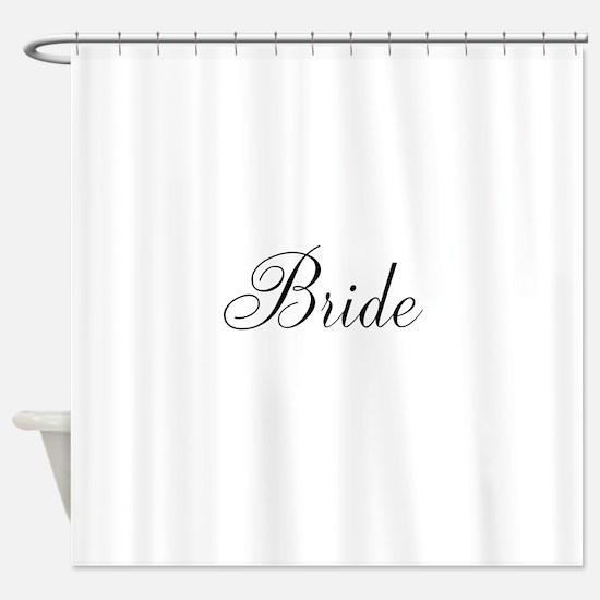 Bride Black Script Small Shower Curtain