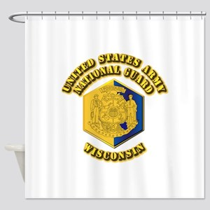 Army National Guard - Wisconsin Shower Curtain
