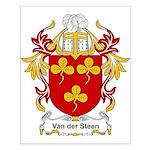 Van der Steen Coat of Arms Small Poster