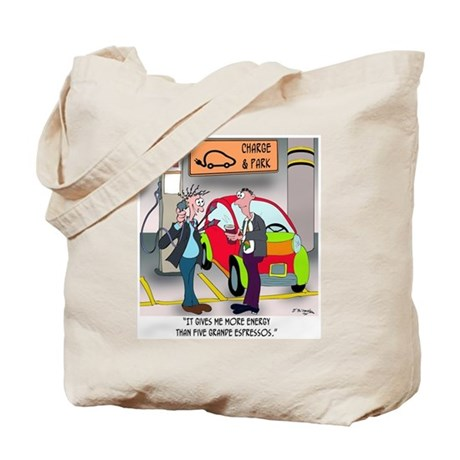 Electric Charge Better Than Espresso Tote Bag