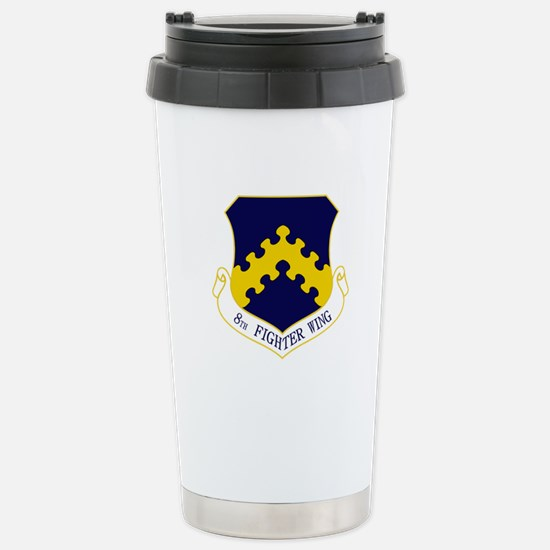 8th Fighter Wing Stainless Steel Travel Mug