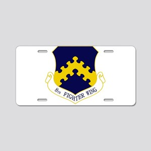 8th Fighter Wing Aluminum License Plate