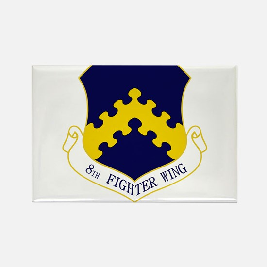 8th Fighter Wing Rectangle Magnet