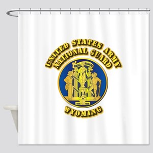 Army National Guard - Wyoming Shower Curtain