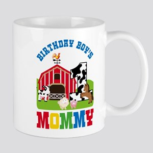 Farm Birthday Boy's Mommy Mugs