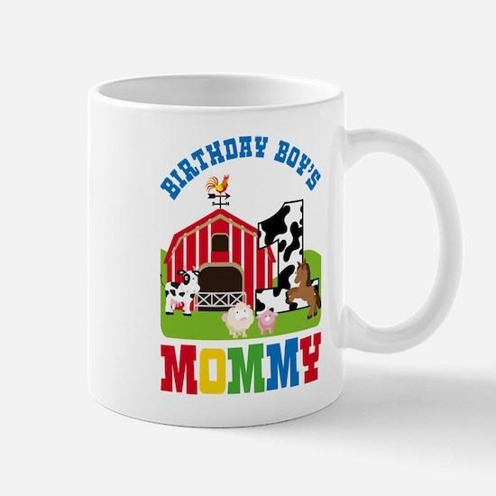 Farm Birthday Boy's Mommy Mugs