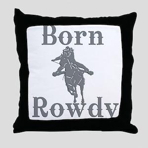 Born Rowdy Logo Throw Pillow