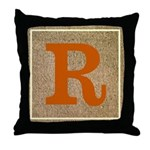 Crisp Customizable Monogrammed Throw Pillow