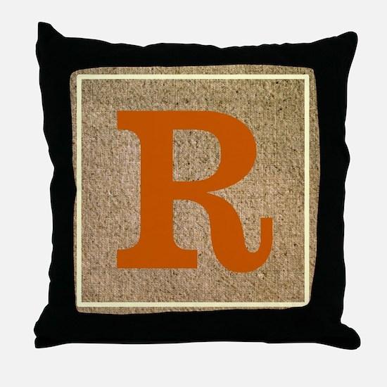 Crisp Customizable Monogrammed Throw Pillow