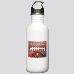 Football with Helmets Stainless Water Bottle 1.0L
