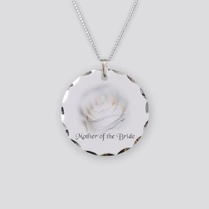 Mother Of The Bride White Ros Necklace Circle Char