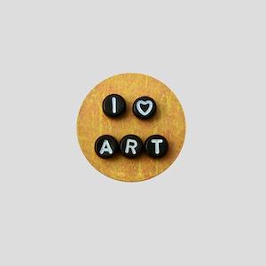 I Heart Art Mini Button